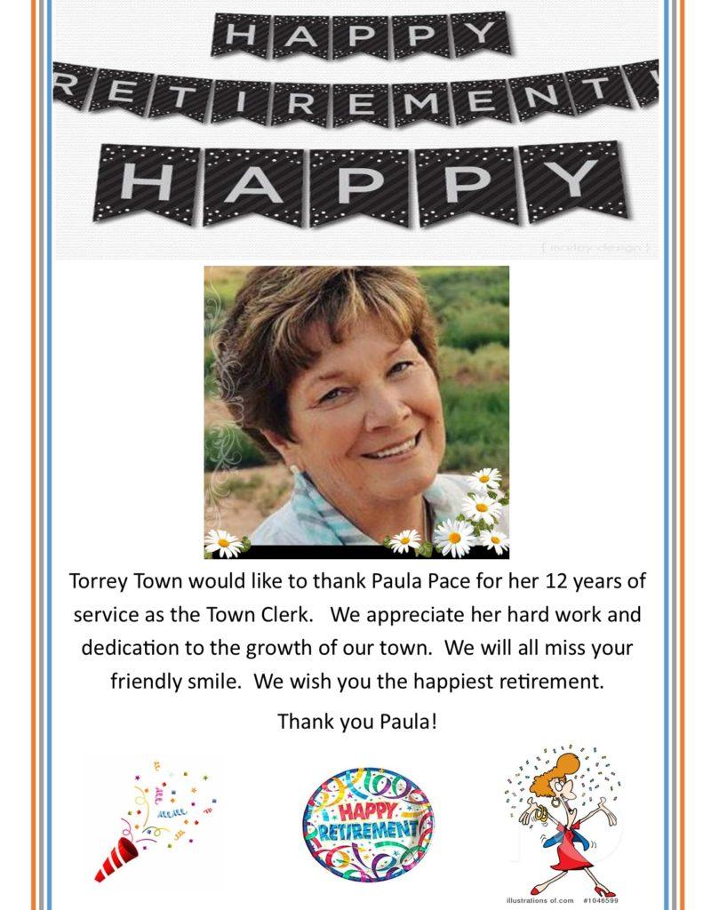 Paula Pace Retiring as Town Clerk